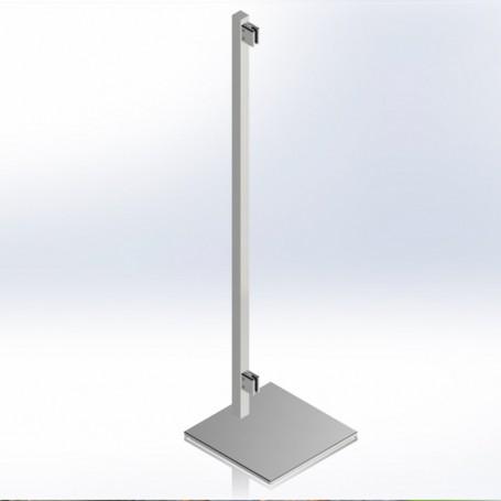 Montante para mampara divisoria estable sin fijación al suelo