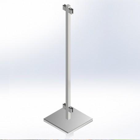 Montante intermedio para mampara divisoria estable sin fijación al suelo