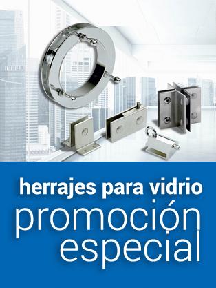 Herrajes para vidrio promoción especial